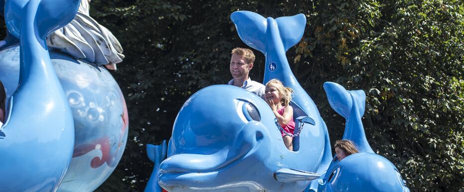 Een coole draaimolen voor de kleintjes! Rij mee op de rug van een dolfijn, en ga op en neer doorheen de oceaan!