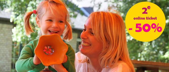 Ontvang nu 50% korting op je tweede ticket en beleef zo een dolfijne moederdag in Boudewijn Seapark!